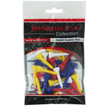 Golfers Club Collection TEPSMP Short Plastic Tees 40-Pack