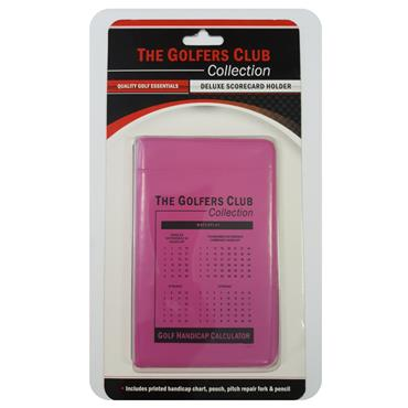 Golfers Club Collection Scorecard Holder CH01  Pink