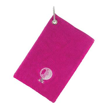 Surprizeshop Bag Towel With Carabiner  Pink