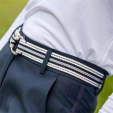 Galvin Green Ladies Wilma Braided Belt 85 cm Navy - White