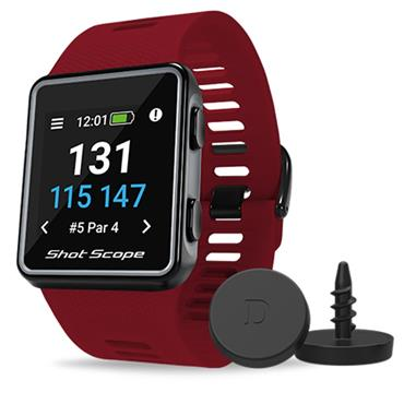 Shot Scope V3 Shotscope GPS Watch  Red