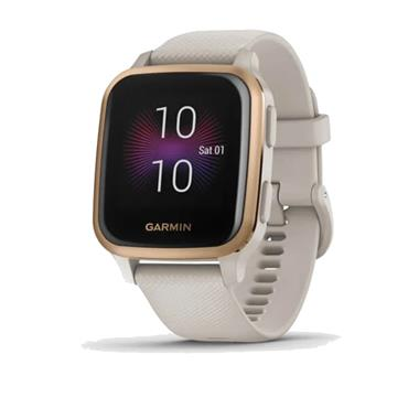 Garmin Venu Sq Music GPS Watch  Sand Rose Gold