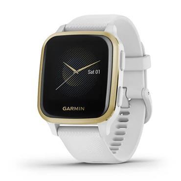 Garmin Venu Sq GPS Watch  White Light Gold