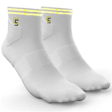 Golf Sock Ireland Ladies Socks Maria 2 Pair Pack  White/Yellow
