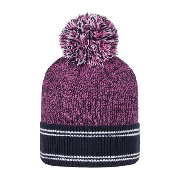 Glenmuir Ladies Catriona Hat and Neck Warmer  Navy Hot Pink