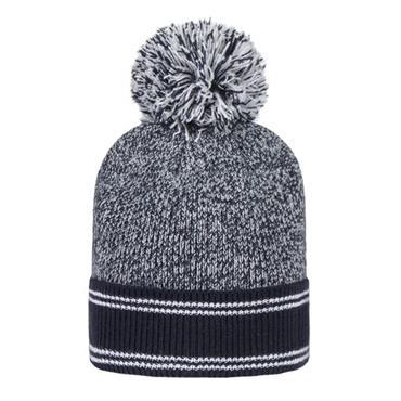 Glenmuir Ladies Catriona Hat and Neck Warmer  Navy/Light Grey