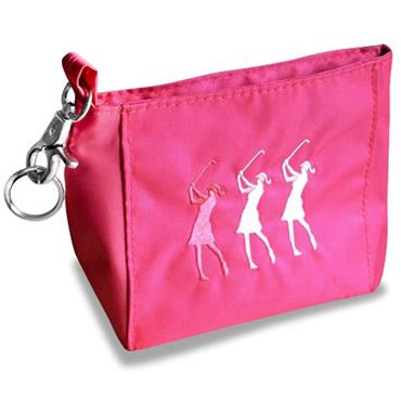 Surprizeshop Ladies Embroidered Golfer Handbag  Pink