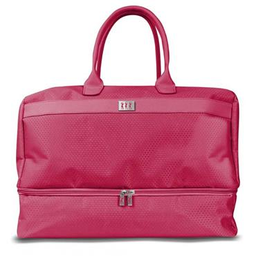 Surprizeshop Honeycomb Holdall with Shoe Compartment  Pink