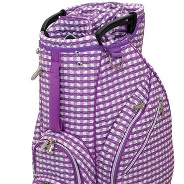 Lynx Lynx Checked Wave Cart-Bag  Purple White
