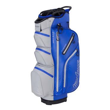 """MacGregor Mactec Water Repellent 10"""" Cart Bag  Blue Silver"""