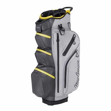 """MacGregor Mactec Water Repellent 10"""" Cart Bag  Silver Charcoal"""