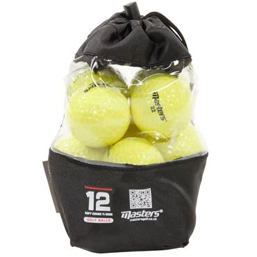 Masters Golf Titanium Ball Vinyl Bag 12 Dozen Yellow