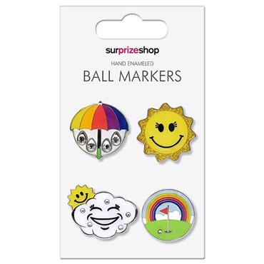 Surprizeshop Weather Forecast Ball Marker Set  .