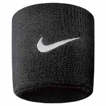 Nike Swoosh Wristband  Black - White