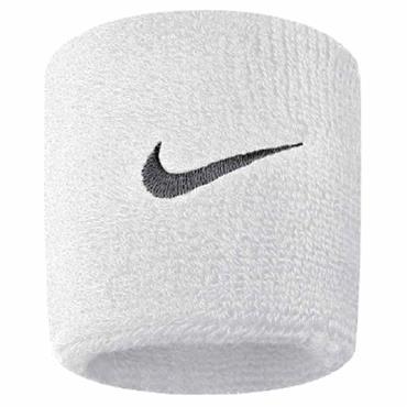 Nike Swoosh Wristband  White Black