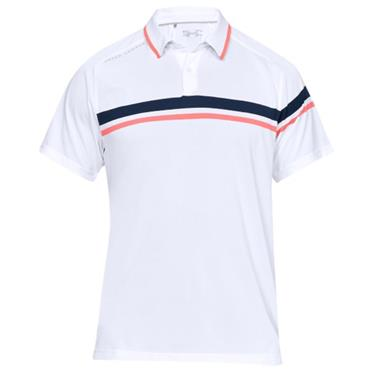 Under Armour Gents Tour Tips Drive Polo Shirt White