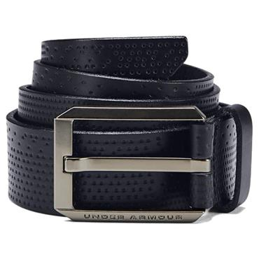 Under Armour Gents Laser Performance Leather Belt Black