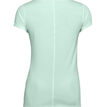 Under Armour Ladies HeatGear Armour Short Sleeve Top Blue