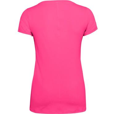 Under Armour Ladies HeatGear Armour Short Sleeve Top Cerise