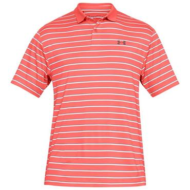 Under Armour Gents Performance Divot Stripe 2.0 Polo Shirt Red