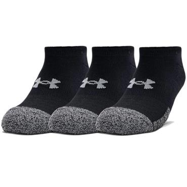 Under Armour HeatGear No Show Socks 3-Pack Black