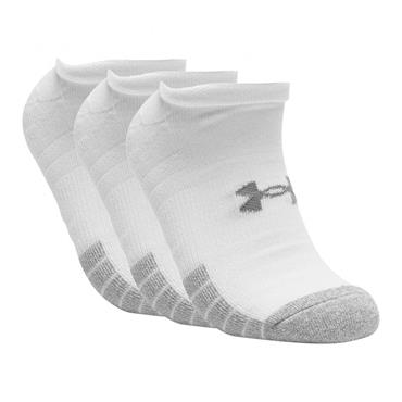 Under Armour Adult HeatGear® No Show Socks 3-Pack White