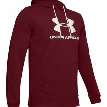 Under Armour Gents Sportstyle Terry Logo Hoodie Red