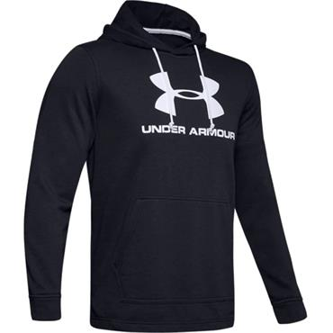 Under Armour Gents Sportstyle Terry Logo Hoodie Black