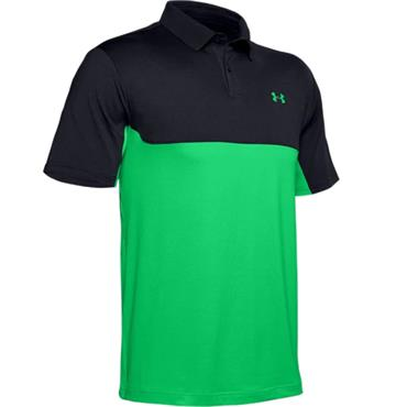 Under Armour Gents Performance 2.0 Polo Black - Green