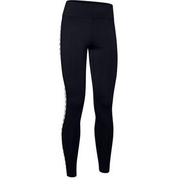 Under Armour Ladies Branded Leggings Black 001