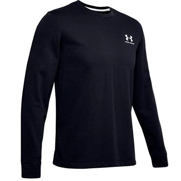 Under Armour Gents Sportstyle Terry Logo Crew Top Black