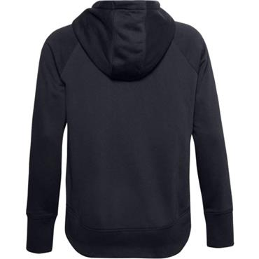Under Armour Ladies Rival Fleece Metallic Hoodie Black