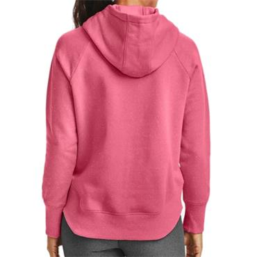 Under Armour Ladies Rival Fleece Metallic Hoodie Pink