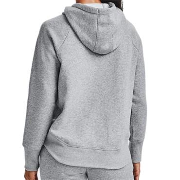 Under Armour Ladies Rival Fleece Metallic Hoodie Steel