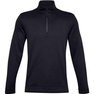 Under Armour Gents Storm Sweater Fleece ½ Zip Top Black 001