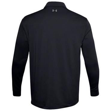 Under Armour Gents Performance Textured Long Sleeve Polo Shirt Black 001