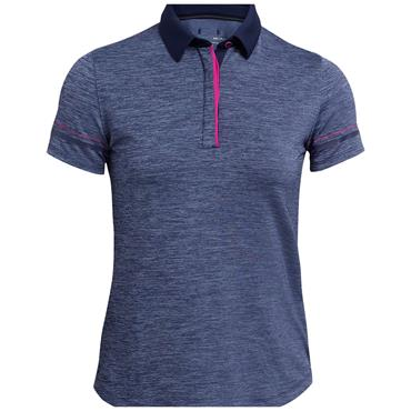 Under Armour Ladies Zinger Heather Polo Shirt Navy 410