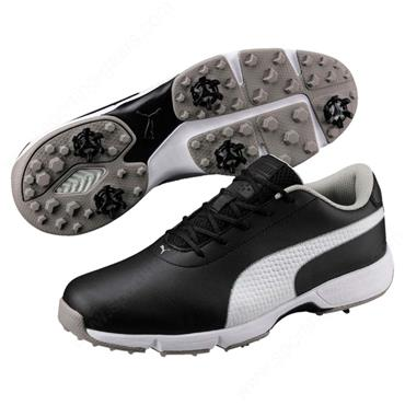 Puma Gents Drive Cleated Classic Shoes Black - White