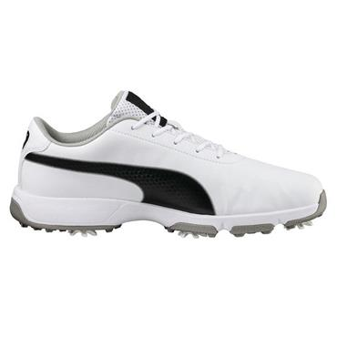 Puma Gents Drive Cleated Classic Shoes White - Black