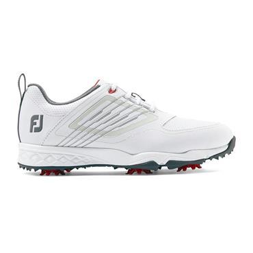 FootJoy Junior Fury Shoes White - Silver