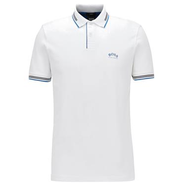 Hugo Boss Gents Paul Curved Polo White