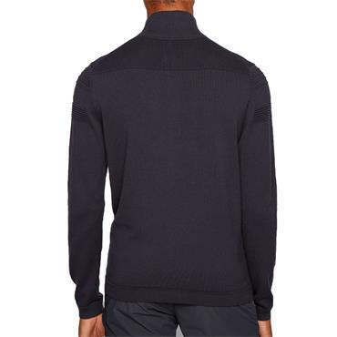 Hugo Boss Gents Zomin Zip Neck Sweater Blue
