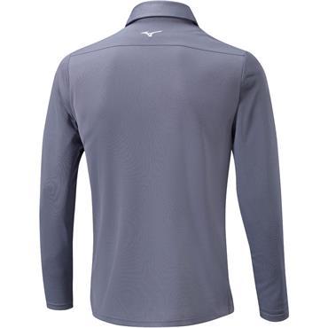 Mizuno Gents Breath Thermo Long Sleeve Polo Grey