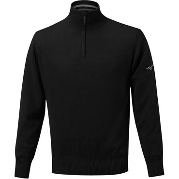 Mizuno Gents Windproof Lined Sweater Black