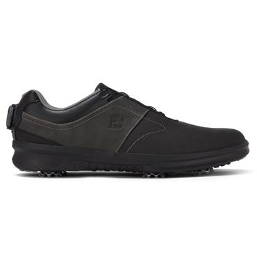 FootJoy Gents Contour Shoes Wide-Fit Black - Charcoal