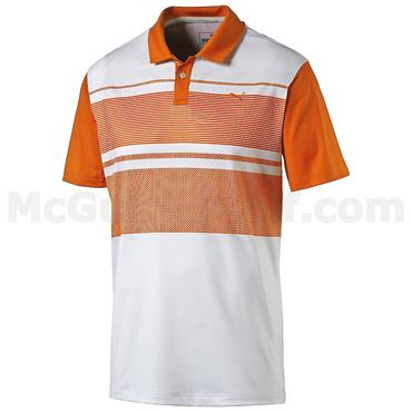 Puma Junior - Boys Patternblock Golf Polo Vibrant Orange