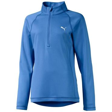 Puma Girls ¼ Zip Top Ultramarine