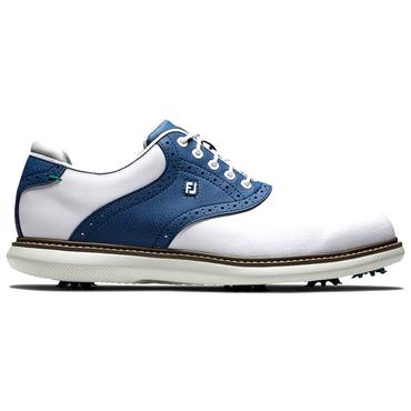 FootJoy Gents FJ Traditions Shoes White - Navy
