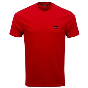 J.Lindeberg Gents Bridge Jersey T-Shirt Red