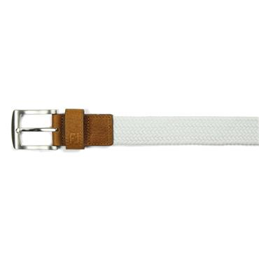 FootJoy Gents Braided Belt White